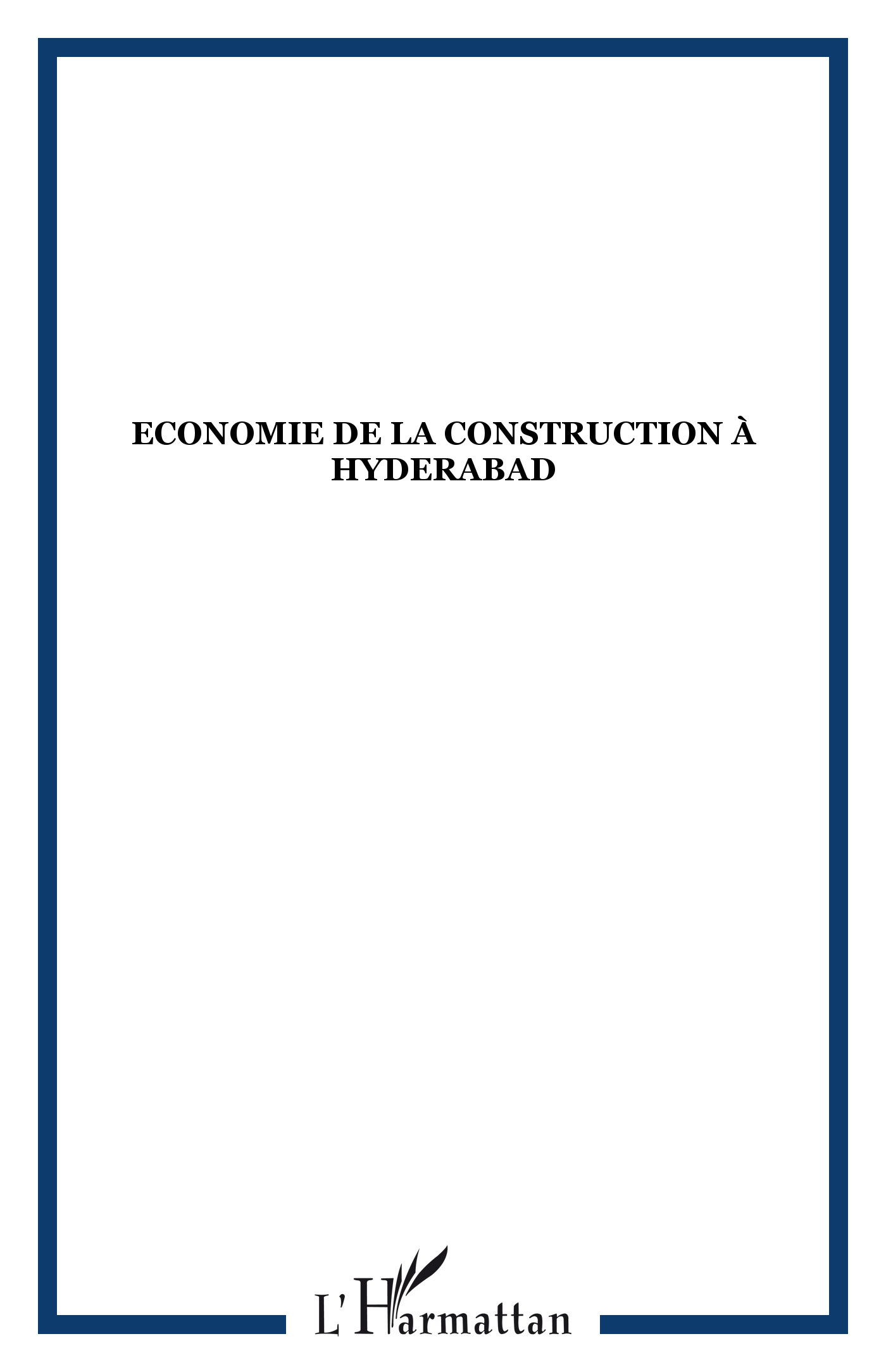 ECONOMIE DE LA CONSTRUCTION A HYDERABAD
