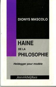 HAINE DE LA PHILOSOPHIE