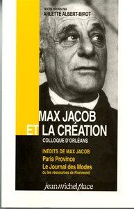 MAX JACOB ET LA CREATION