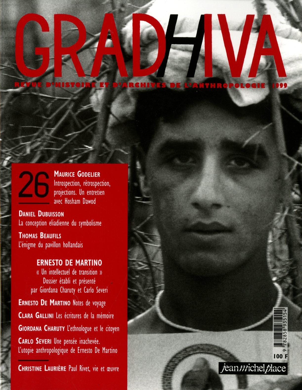 GRADHIVA N  26 : ERNESTO DE MARTINO