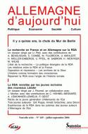 ALLEMAGNE D'AUJOURD'HUI, N 169/JUIL.-SEPT. 2004
