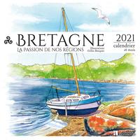 CALENDRIER BRETAGNE 2021 -DESSINS A L'AQUARELLE-