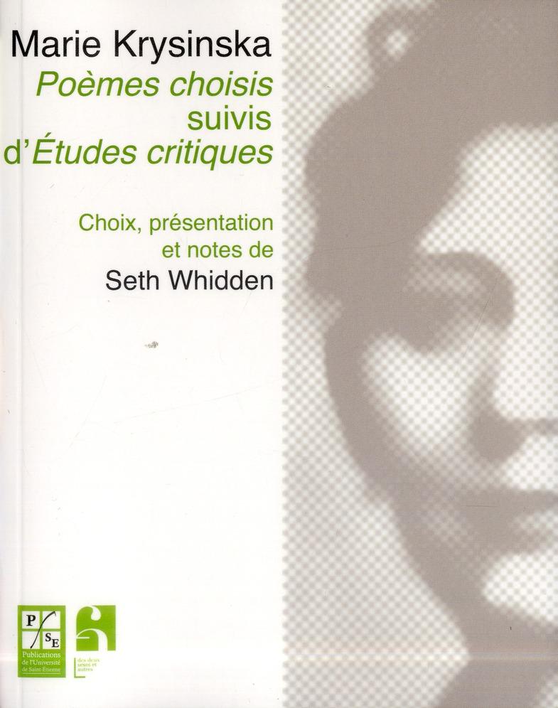 Poemes choisis suivis d etudes critiques