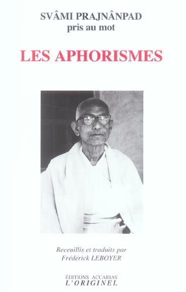 LES APHORISMES