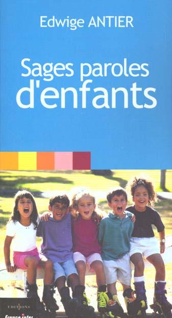 SAGES PAROLES D'ENFANTS