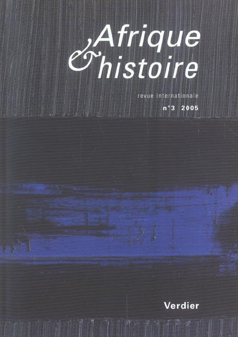 REVUE AFRIQUE ET HISTOIRE N3