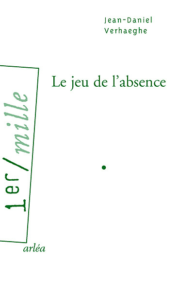 LE JEU DE L'ABSENCE
