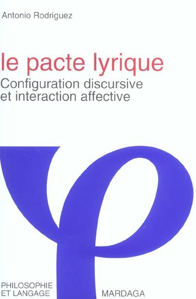 PACTE LYRIQUE