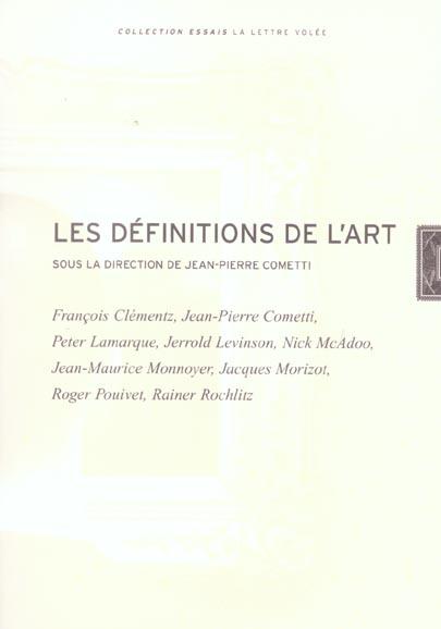 LES DEFINITIONS DE L'ART