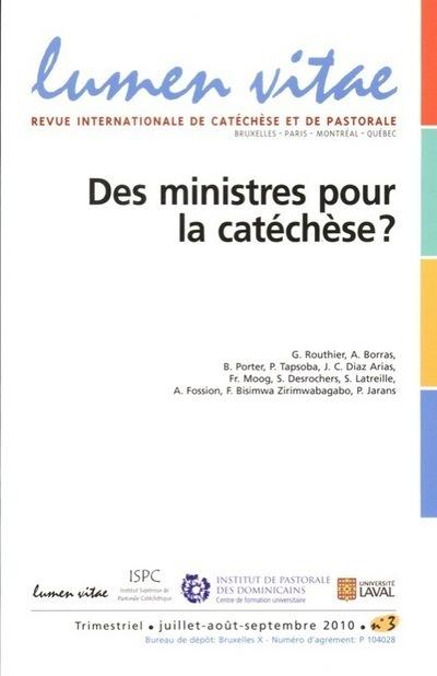 DES MINISTERES POUR LA CATECHESE