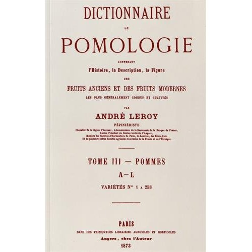 DICTIONNAIRE DE POMOLOGIE TOME 3 - POMMES
