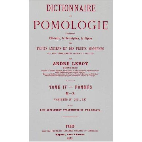 DICTIONNAIRE DE POMOLOGIE TOME 4 - POMMES