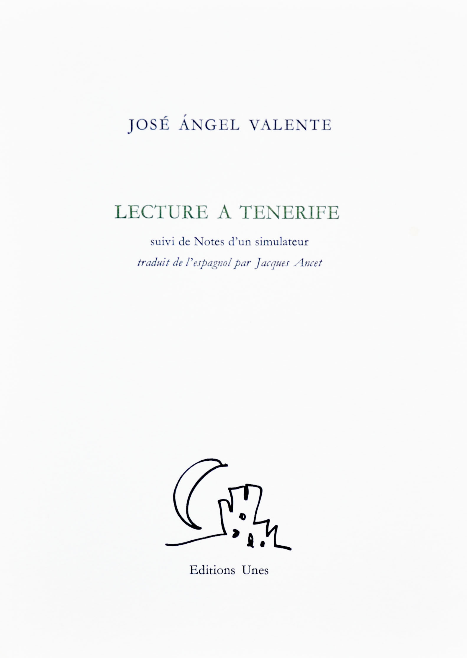 LECTURE A TENERIFE