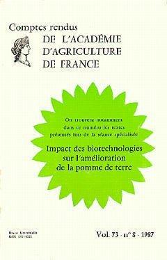 IMPACT DES BIOTECHNOLOGIES SUR L'AMELIORATION DE LA POMME DE TERRE (COMPTES RENDUS DE L'AAF VOL.73 N