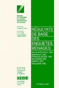 RESULTATS DE BASE DES ENQUETES MENAGES DE 1989 A 1990