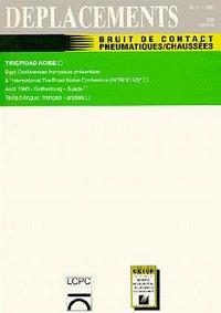 BRUIT DE CONTACT PNEUMATIQUES CHAUSSEES (DEPLACEMENTS N.11)