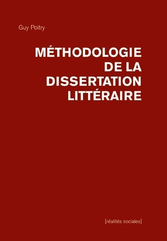 METHODOLOGIE DE LA DISSERTATION LITTERAIRE