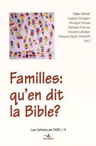 FAMILLES, QU'EN DIT LA BIBLE