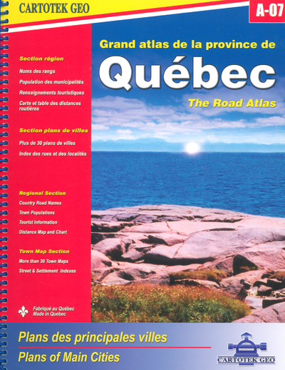 GRAND ATLAS DE LA PROVINCE DE QUEBEC