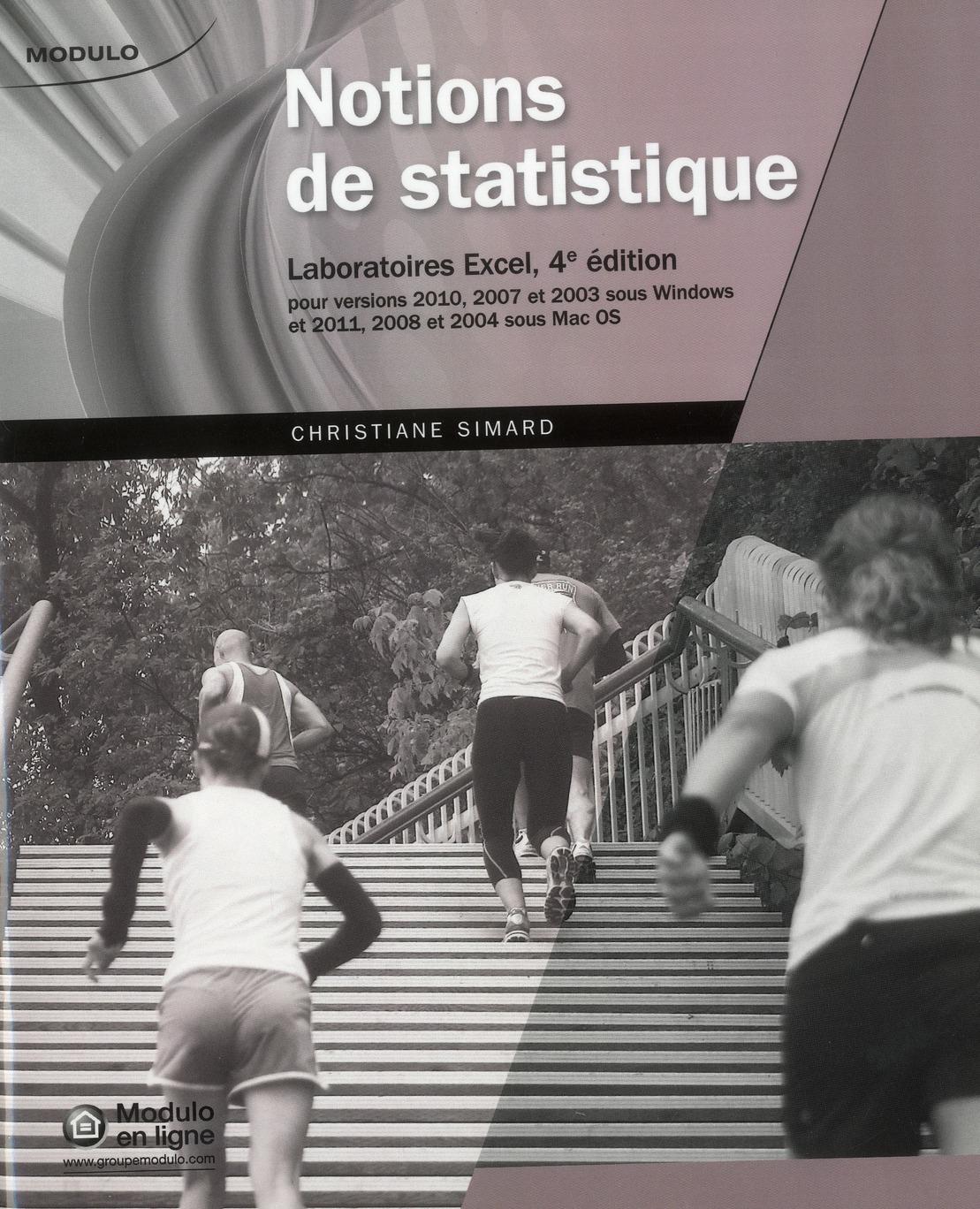 NOTIONS DE STATISTIQUES, LABORATOIRE EXCEL