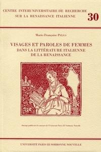 VISAGES ET PAROLES DE FEMMES DANS LA LITTERATURE ITALIENNE DE LA RENA ISSANCE