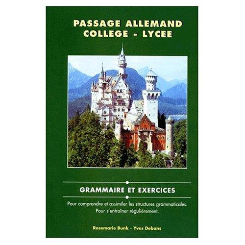 PASSAGE ALLEMAND COLLEGE/LYCEE