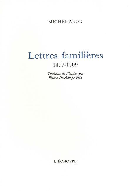 LETTRES FAMILIERES
