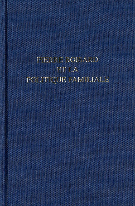 PIERRE BOISARD ET LA POLITIQUE FAMILIALE
