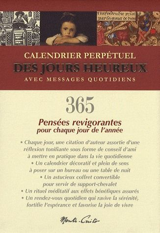 CALENDRIER PERPETUEL DES JOURS HEUREUX - COFFRET CALENDRIER CHEVALET