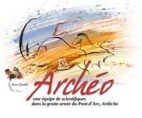 ARCHEO - UNE EQUIPE DE SCIENTIFIQUES DANS LA GROTTE ORNEE DU PONT D'ARC, ARDECHE