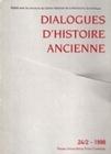 DIALOGUES D'HISTOIRE ANCIENNE, N 24-2/1998