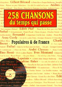 258 CHANSONS DU TEMPS QUI PASSE