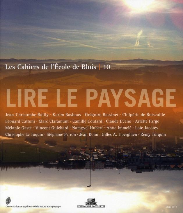 LIRE LE PAYSAGE