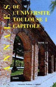 ANNALES UT1 CAPITOLE 2009. TOME LI