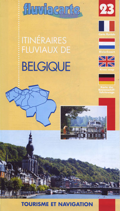VOIES NAVIGABLES -BELGIQUE - ITINERAIRES FLUVIAUX - 23 - CARTE