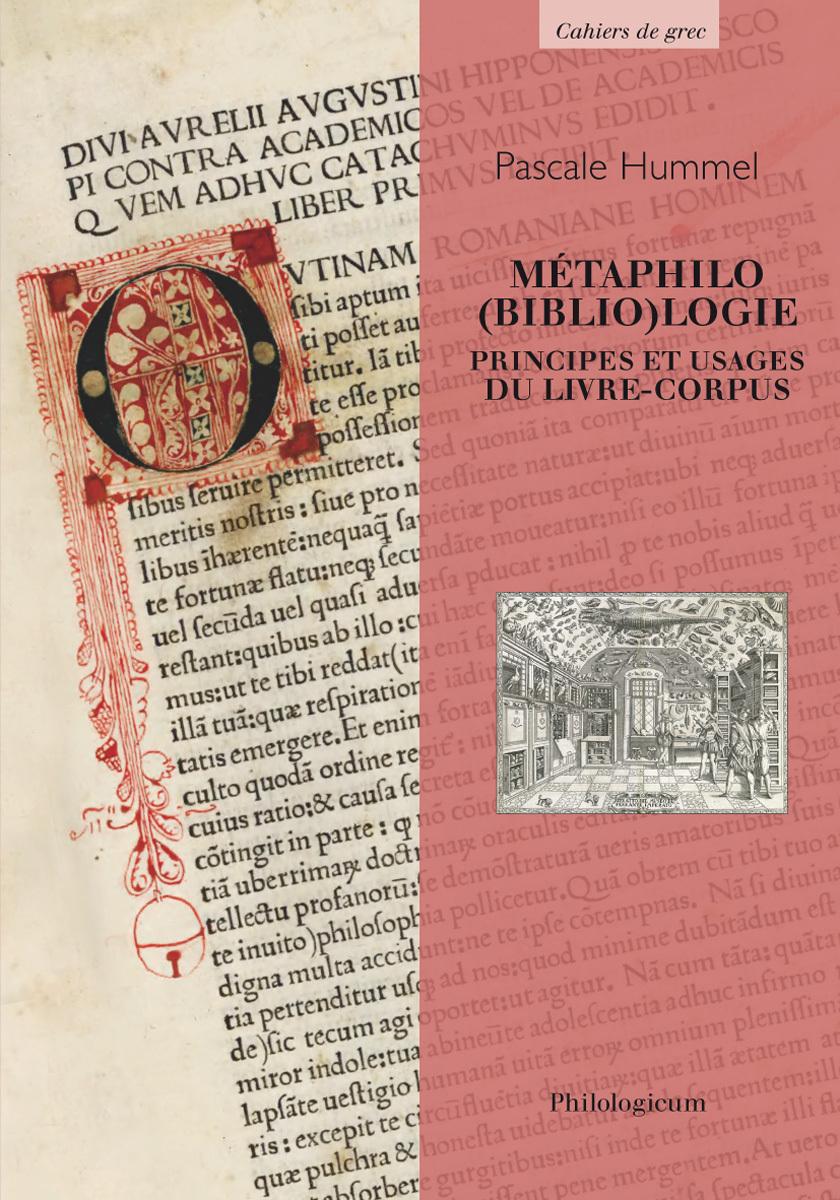 METAPHILO(BIBLIO)LOGIE PRINCIPES ET USAGES DU LIVRE-CORPUS