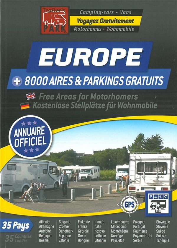 GUIDE EUROPE AIRES CAMPING CARS GRATUITES
