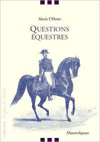 QUESTIONS EQUESTRES