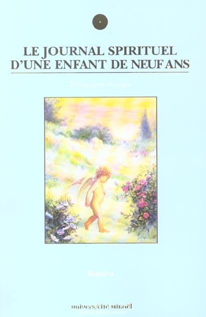 JOURNAL SPIRITUEL D'UNE ENFANT DE 9 ANS