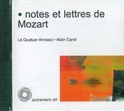 NOTES ET LETTRES DE MOZART/1CD