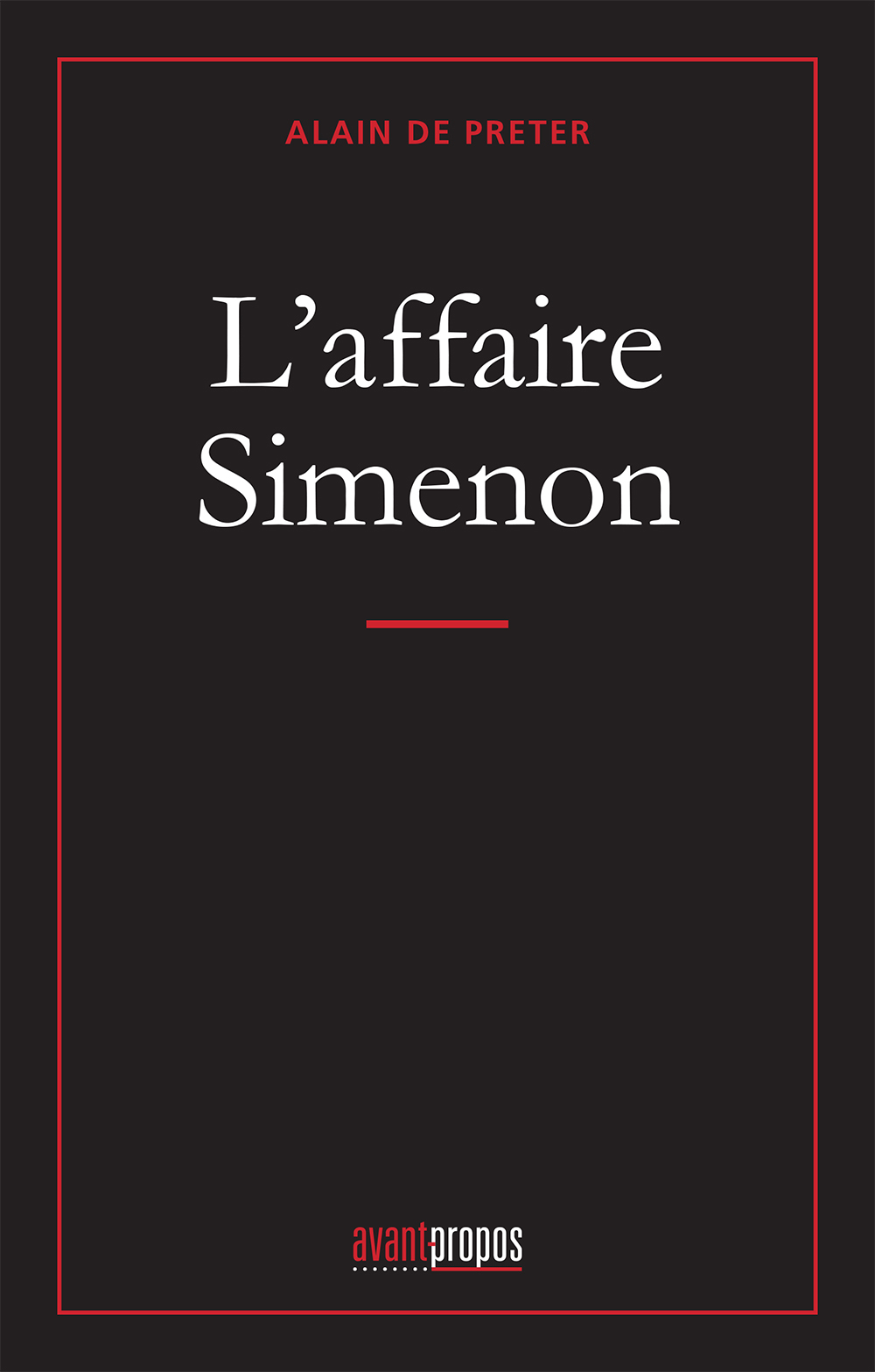 L'AFFAIRE SIMENON