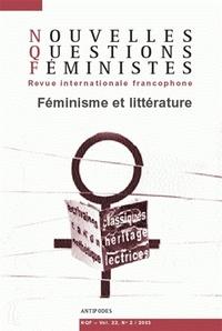 NOUVELLES QUESTIONS FEMINISTES, VOL. 22(2)/2003. FEMINISME ET LITTERA TURE