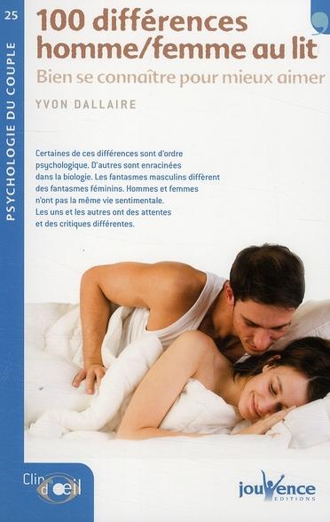 N 25 CENT DIFFERENCES HOMME/FEMME AU LIT