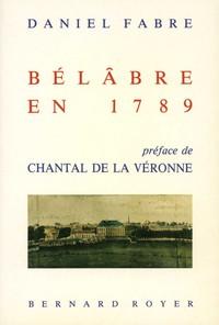 BELABRE EN 1789