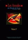 LES ANNALES DE L'EPM - VOLUME V. TRAVAUX DE L'ANNEE 1998