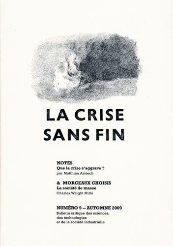 CRISE SNS FIN (LA) - NOTES ET MORCEAUX CHOISIS N 9