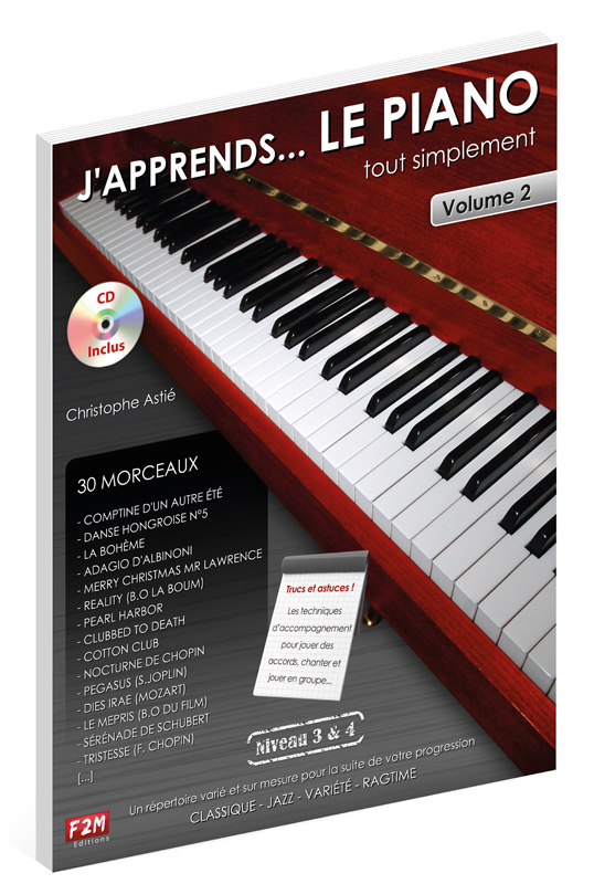 J'APPRENDS LE PIANO TOUT SIMPLEMENT VOL 2 + CD