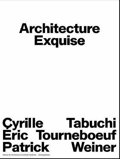 ARCHITECTURE EXQUISE ERIC TABUCHI PATRICK TOURNEBOEUF CYRILLE WEINER /FRANCAIS