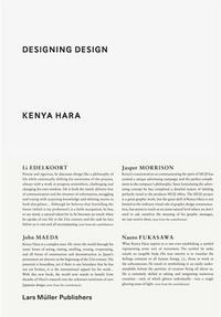 KENYA HARA DESIGNING DESIGN (PAPERBACK) /ANGLAIS