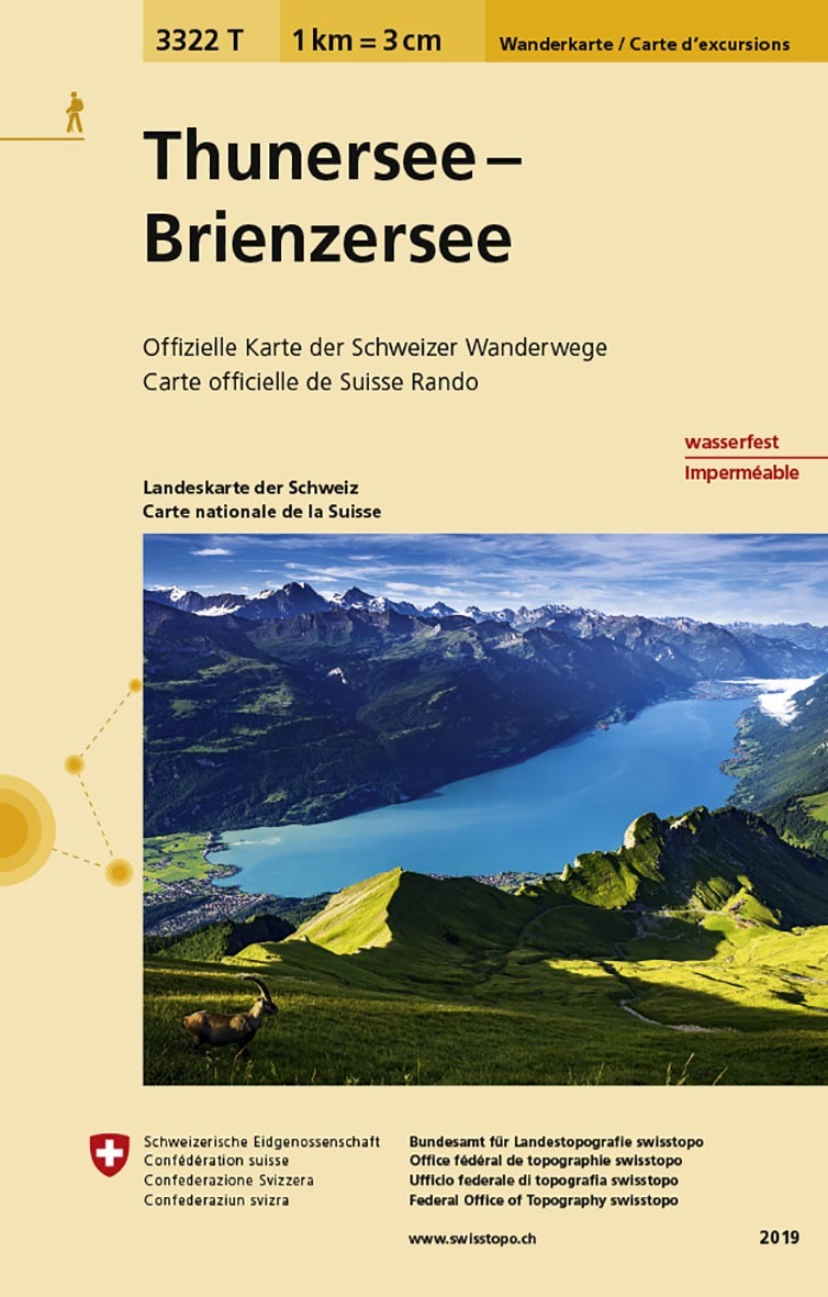 THUNERSEE - BRIENZERSEE INDECHIRABLE ET RESISTANTE EAU